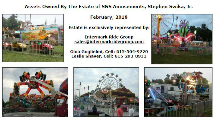 Estate of Stephen Swika, Jr., S&S Amusements Rides For Sale