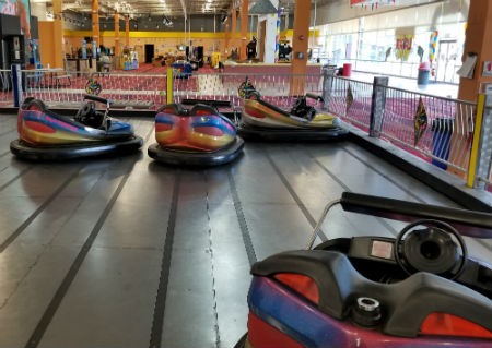 Bumper Cars, 9 Ninja cars with electric floor