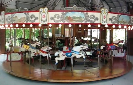 C W Parker 2-Row Carousel For Sale