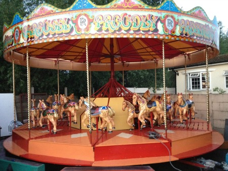 One of a kind Rolls Royce Merry Go Round, Trailer Mount Center, For Sale
