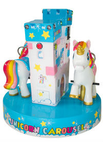 Cogan Unicorn Carousel Kiddie Ride