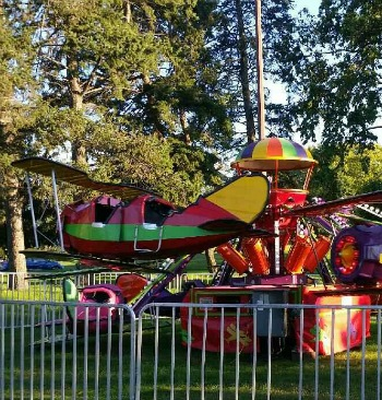 Red Baron Children's Ride For Sale, Trailer Mounted