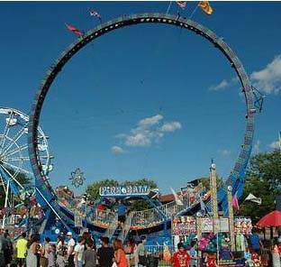 Fire Ball / Super Loop Amusement Ride For Sale